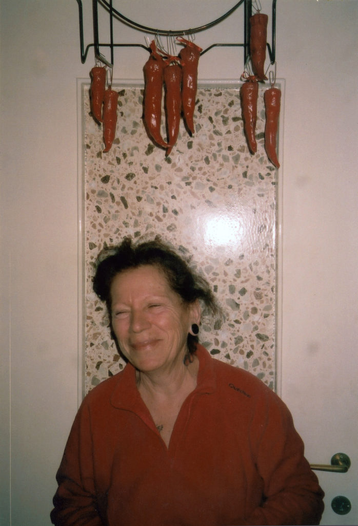 "Mom was happy 'cause she made typical ""little horns'' with argilla for all the family as a Christmas present, she was letting them dry on the door. 2013. Domani nevica © Anna Adamo"