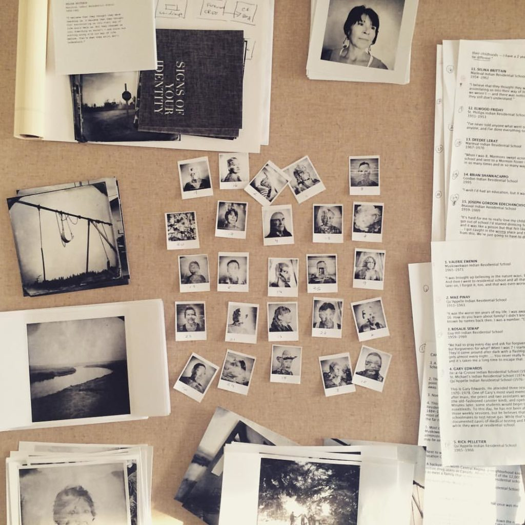 "The editing process image of ""Signs of your identity"" © Daniella Zalcman"